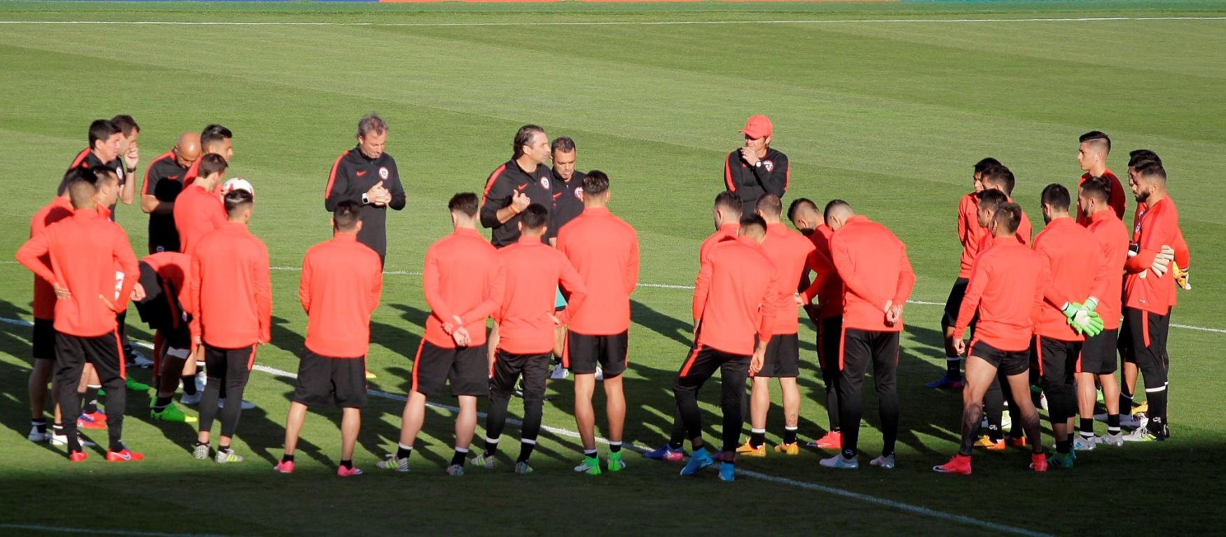 Chile realizó su último entrenamiento de cara al encuentro con Portugal (foto: Agencia UNO).